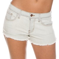 Bleached Out Bliss Cut Off Jean Shorts - Light Blue