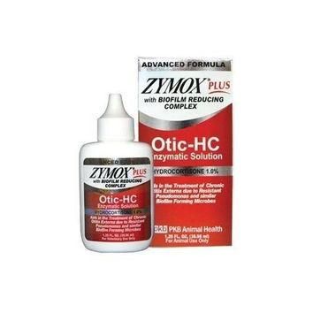Zymox Plus Otic - HC (1.25 oz) Advanced Ear Care Solution - 1% Hydrocortizone