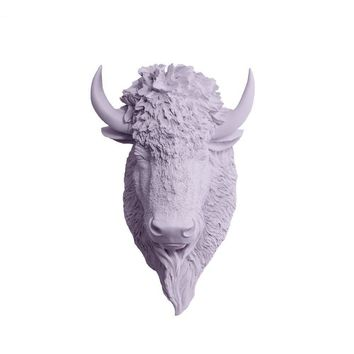 The Yellowstone | Large Buffalo Bison Head | Faux Taxidermy | Lavender Resin