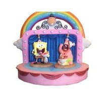 Spongebob Squarepants Goofy Goober Numbered Limited Edition Figure Set with Patrick on a Fun Stage