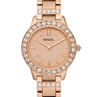 Fossil Watch, Women's Jesse Rose Gold-Tone Stainless Steel Bracelet 34mm ES3020 - Women's Watches - Jewelry & Watches - Macy's