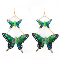 Swallowtail Butterfly Drop Earrings - IN 4 COLORS - 50% OFF