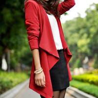 women's OL style suit Coat jacket Windbreaker red color dy13 S,M