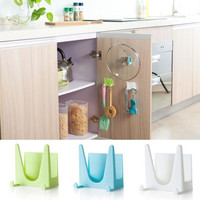 Cooking Tool Hot 1PCS Plastic kitchen accessories Pot Pan Cover Shell Cover Sucker Tool Bracket Storage Holder Rack 30UY