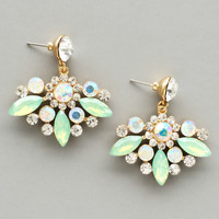 Mint Crystal Starlit Earrings