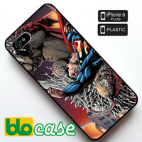 Superman fighting Iphone 6 Plus Plastic Case