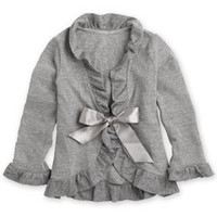 gray heather ruffle cardigan-Chasing Fireflies
