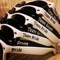 Team Bride/Team Groom Bridal Party Game Day/Beer Olympics/Break the Ice/Field Day Sunglasses