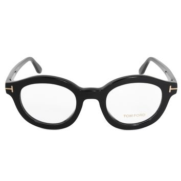 Tom Ford FT5460 001 49 Round | Black | Eyeglass Frames