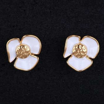 Tory Burch Fashion New Floral Personality Earring Women Accessories