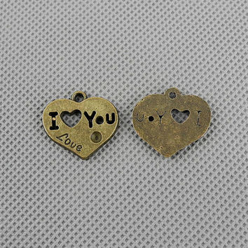 6x Keyrings Clasp Jewellery Supply Supplies Retro Jewelry Findings Charms 4-A1939 Love Heart