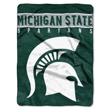 "The Northwest Company Michigan State Spartans 60"" x 80"" Basic Raschel Blanket"