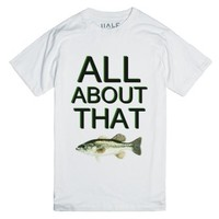 All About That Bass-Unisex White T-Shirt