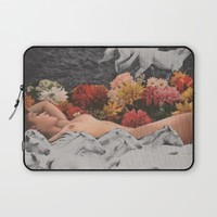 Bareback Laptop Sleeve by Deborah Stevenson Collage Art