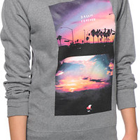 Glamour Kills Carl Rogers Heather Grey Crew Neck Sweatshirt