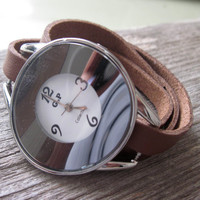 Women's Watches - Leather Watch - Wrist Watch - Watches For Women - Classic Watch - Brown Watch - Wrap Watch - Ladies Watch