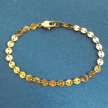 Coin, Disc, Chain, Gold, Silver, Bracelet or Choker necklace, Birthday, Best friends, Sister, Gift, Jewelry
