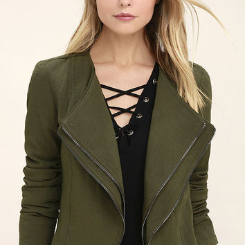 The Last Word Olive Green Jacket