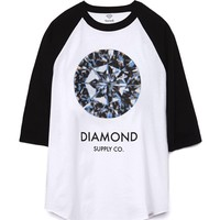 Diamond Supply Co Clarity Raglan T-Shirt - Mens Tee - White