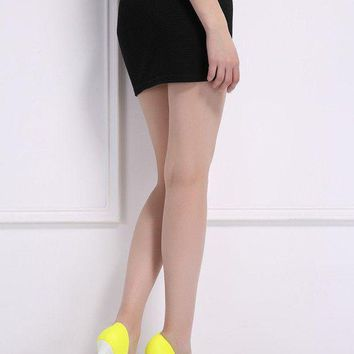 DCK7YE Shoes High Heels 12CM Yellow Shoes Woman