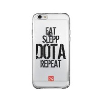 DOTA 2 REPEAT iPhone and Samsung Galaxy Clear Case