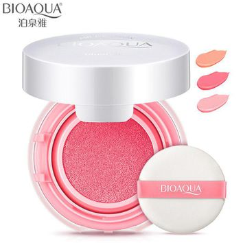 BIOAQUA Brand Cushion Blusher Palette Nude Makeup Mineral Blush Bronzer Powder New Cosmetics Sleek Maquiagem Korean Make Up