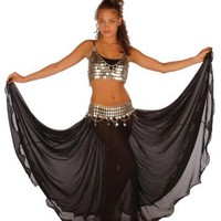 Belly Dancing Costume Set Full Circular Skirt-coin Bra & Belt