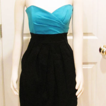Teen Dress Teen Clothing Party Dress Womens Dress Ladies Dress Date Night Turquoise Dress Little Black Dress Juniors Dress Vintage Clothing