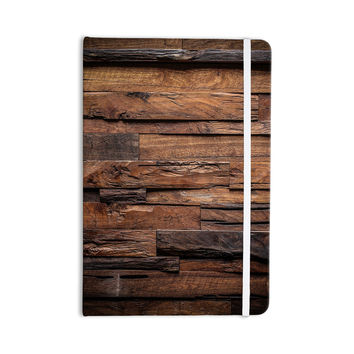 "Susan Sanders ""Espresso Dreams"" Rustic Wood Everything Notebook"