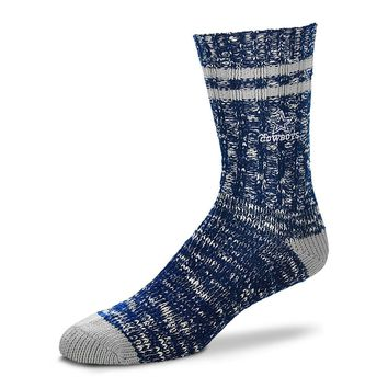 DALLAS COWBOYS ALPINE CREW SOCKS SIZE LG BRAND NEW FOR BARE FEET