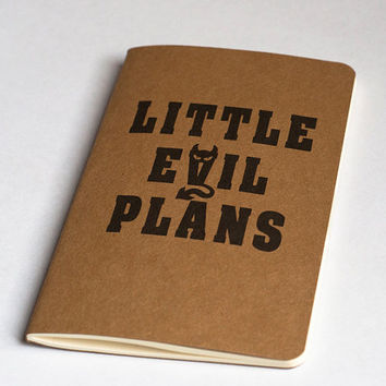 Little Evil Plans Moleskine Cahier by JulienDenoyer on Etsy
