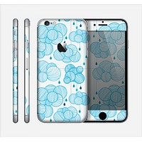 The Blue & White Seamless Ball Illustration Skin for the Apple iPhone 6