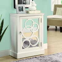 White/Mirror Contemporary Bombay Chest