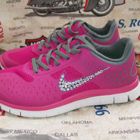 nike free 4.0 women custom running athletic shoes with crystal swarovski sport women cross shoes last pair sale 20%
