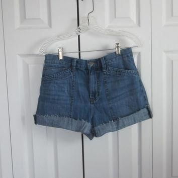 Vintage 90s Grunge Shorts Cut Off Denim Shorts Ralph Lauren Jean Shorts Womens Size 8