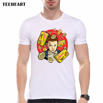 New Fashion Stranger Things Print T-shirts Original Character Design Men T Shirts Summer Hipster Tops T shirt Home