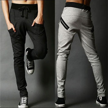 Harem Pants Casual Skinny Sweatpants Sport Pants Pantalon Homme Trousers Drop Crotch Jogging Baggy Pants Men Boys Joggers HipHop [9305643591]