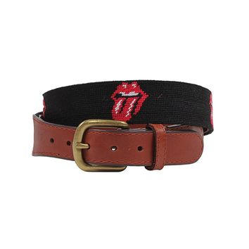 Rolling Stones Needlepoint Belt by Smathers & Branson