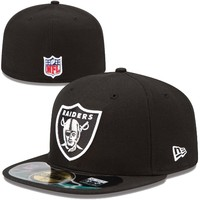 New Era Oakland Raiders On-Field Player Sideline Performance 59FIFTY Fitted Hat - Black