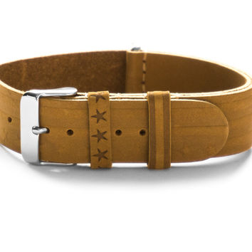 LEATHER NATO STRAP STARS & STRIPES