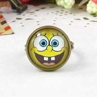Amazon.com: Classic Color Ring Strongly Individualizes Spongebob Squarepants Finger Adjustable Ring: Everything Else