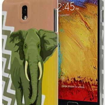 Samsung Galaxy Note 3 Antique Coral Gold Chevron with Elephant TPU Case