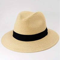Natural Wide Brim Summer Fedora