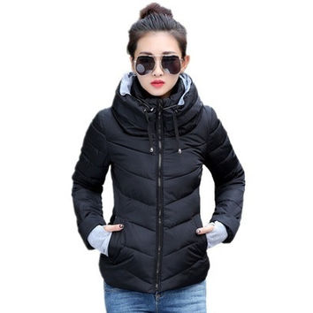 2016 Winter Jacket Women Parka Thick Winter Outerwear Plus Size Down Coat Short Slim Design Cotton-padded Jackets And Coats AD [8833413388]