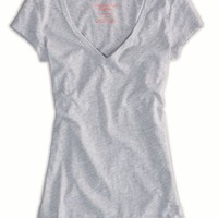 AEO Women's Every Wear Ruched T-shirt (Grey)