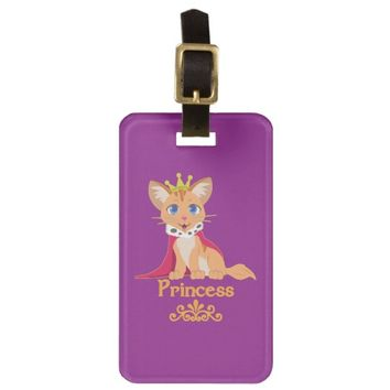 Princess Kitten Bag Tag