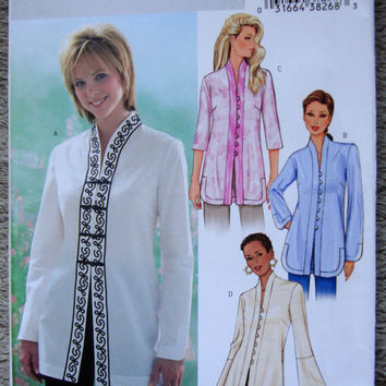 Asian Style Tunic or Long Overblouse Sewing Pattern UNCUT Butterick P402 Bust 36-38-40  Size 14-18