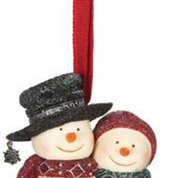 Our First Christmas Snow Couple Christmas Tree Ornament