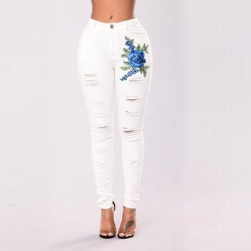 White Pant Denim Jeans