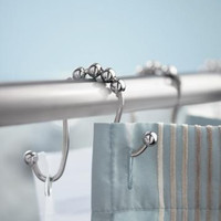 Omega Shower Curtain Hooks, Set of 12 Per Pack